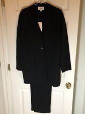 NWT Emanuel Ungaro -Black 100% Wool Long Blazer Jacket & Pant Suit- Sz M/L