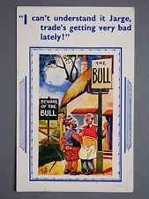 R&L Postcard: Comic, HB 7244, The Bull Pub, Bad Trade