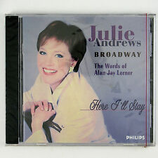 JULIE ANDREWS Here I'll Stay-Words Of Allan Jay Lerner CD 1996 POP VOCAL SEALED