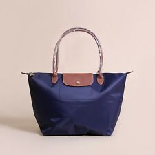 Longchamp New Le Pliage Nylon Tote Handbag Navy Blue Large Authentic France