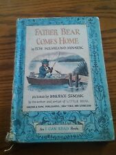 039 VTG Father Bear Comes Home I Can Read Book Minarik & Sendak 1959 Harper Row