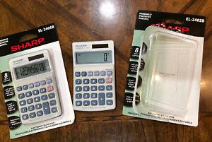 Sharp El240sb Pocket Calculator - Lcd - Solar, Battery Powered