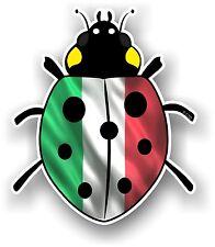 Belle Coccinelle Ladybug design & ITALIE ITALIEN IL Tricolore Drapeau Autocollant Voiture