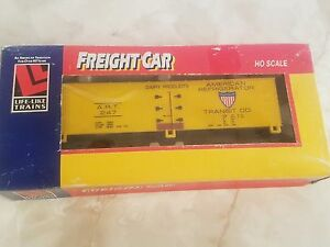 HO Life-Like 8586 AMERICAN REFRIGERATOR TRANSIT ART 40' PD Reefer Car #247