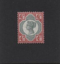 1892 4½d GREEN & CARMINE JUBILEE ISSUE M/MINT CONSTANT VARIETY. SG 206