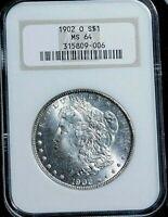 1902 o Morgan Dollar Silver MS-64 NGC  A28-826