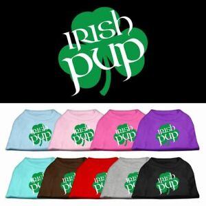 Irish Pup Screen Print Dog Cat Pet Puppy St Patricks Day Shirt