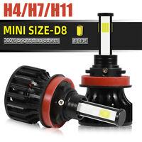 4-Sides H4 H11 H7 LED Headlight KIT 48000LM Canbus Error free 6500K Bulbs White