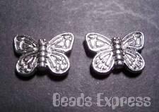 10pcs Tibetan Silver Large Butterfly Beads 15mm (T032)