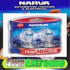 NARVA H7 PLUS 100 HALOGEN LIGHT BULBS HEADLIGHT GLOBES 48346BL2 NEW 12V PLUS100