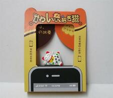 Maneki Neko Great Fortune Comes Lucky Cat Ear Phone Jack Dust Cover Plug A