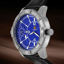NEW LOUIS RICHARD MENS DUAL TIME QUARTZ STEEL WATCH $999 RRP