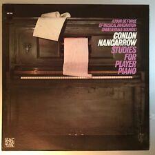 "Conlon Nancarrow ""Studies For Player Piano"" Vinyl LP USA 1969 Beautiful!"