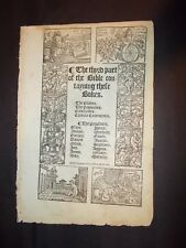 1549-TYNDALE  Bible-TITLE Page with Date!!!-and Psalms Title-Sm Folio-Bl. Letter