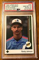 Randy Johnson Rookie/Auto Card!! Perfect 10
