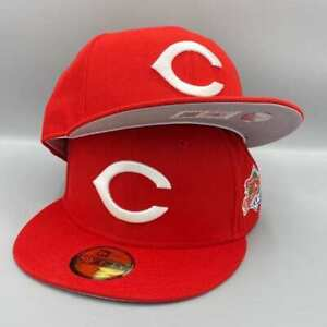 Cincinnati Reds 1990 World Series 59FIFTY New Era Red Fitted Hat Gray Bottom