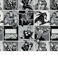 Marvel Comics Blocks in Stone Camelot 100% cotton Fabric Remnant 26""