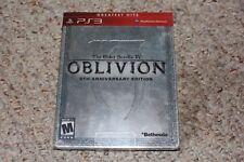Elder Scrolls Oblivion 5th Anniversary Edition Steel Book Playstation 3 ps3 NEU