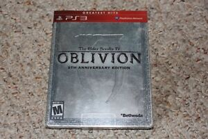 Elder Scrolls Oblivion 5th Anniversary Edition Steel Book Playstation 3 ps3 NEW