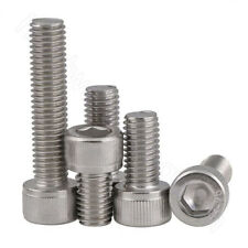 Socket Cap Screws Hex Head A4 Stainless Allen Bolts M2 2.5 3 4 5 6 8 10 12 Screw
