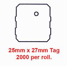 Cardboard Apparel Swing Tags 25 x 27mm.  70535