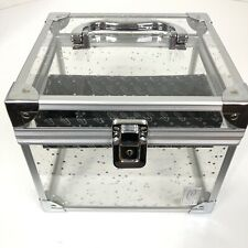 Caboodles Makeup Train Case Handle Clear Glitter 1 TRAY INCLUDED Please Read
