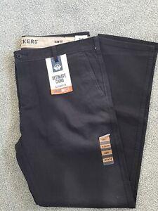 Levi's Dockers Ultimate Chino Trousers Slim Fit Smart 360 Flex W40 L34 BLACK