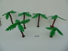 LEGO 6 x Palm Trees Genuine Various sizes 1 with base Lot 2456