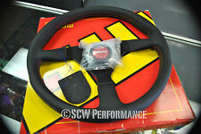 Genuine MOMO Tuner Monte Carlo 350MM Steering Wheel Black Leather NRG Nardi JDM