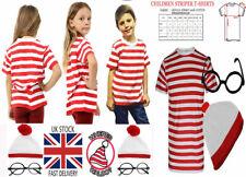 Child Wheres Wally Instant Kit Book Week Day Boys Girls Fancy Dress Costume Kids