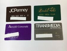 4 Vintage Expired Credit Cards For Collectors Retail Theme Lot (7024)