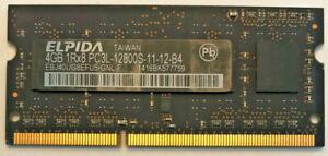 Elpida 4GB 1Rx8 PC3L-12800S DDR3 1600MHz SDRAM EBJ40UG8EFU5-GNL-F