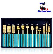 Set completo di 12 Punte in carbide di tungsteno. Manicure pedicure. Full kit