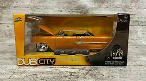 2005 Jada Toys Dub City Old Skool (Orange) 1955 Chevy Bel Air 1:24