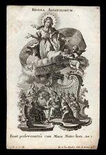 santino incisione 1700 REGINA APOSTOLORUM  klauber