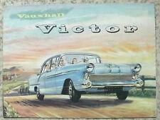 VAUXHALL VICTOR voiture brochure sept 1957 #V 1076A / 9/57