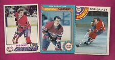 1977 1978 1979 OPC CANADIENS BOB GAINEY EX-MT CARD (INV# 7900)
