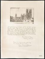 1926 - Litografia citazione il cardinale Boss, Cardinal Gasquet