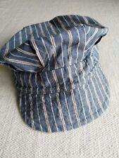 Beams boy BEAMSBOY Japan railroad striped blue indigo linen work cap