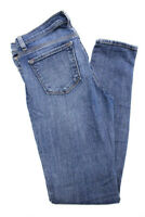 J Brand Womens Jeans Size 27 Blue Cotton Medium Wash Ripped Skinny Leg