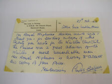 More details for rowena brassey original signed letter. ( princess ann lady in waiting )