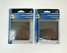 Shepherd Hardware 3 in Square Rubber Furniture 2 Packs of 2 Cups Model 9078 New