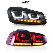 LED Headlights & Tail Lights Fit For VW VOLKSWAGEN Golf MK6 6 GTI 2010-2014