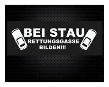 BEI STAU RETTUNGSGASSE BILDEN 20 x 5cm JDM DUB Sticker Aufkleber Autoaufkleber