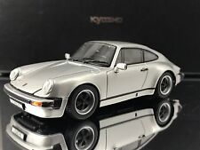 "Kyosho Porsche 911 SC "" Super Carrera "" 1978 Silver with Case and Stand 1/43"