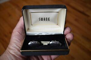 Vintage Oval Sterling Silver Cufflinks