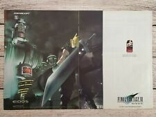 Final Fantasy VII 7 PC PS1 Playstation Game Original Promo Ad Art Print Poster