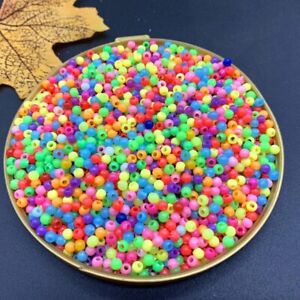 1000pcs Multi Colors Acrylic Round Beads For DIY Bracelets & Necklaces Jewelry
