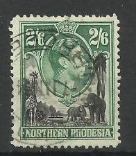 N.Rhodesia, 1938 Sg 41, 2/6d Black & Green, Very fine used [688]