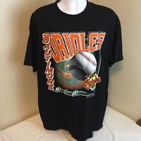 Vtg 1999 Logo 7 Mens T-Shirt XL Baltimore Orioles MLB Black NWOT NOS Free Ship!